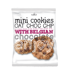 Mini oat cookies choc-chip