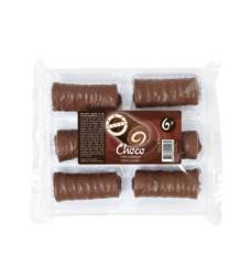 Mini cakerolletjes chocolade