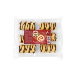 Mini cakerolletjes aardbei